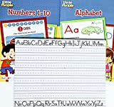 Preschool Kindergarten Young Children Toddlers Little People Early Learning Educational Fun Activities with Exercises Workbooks of Alphabets Spellings Numbers + A 2-Sided Dry Erase Board (Pack of 3)