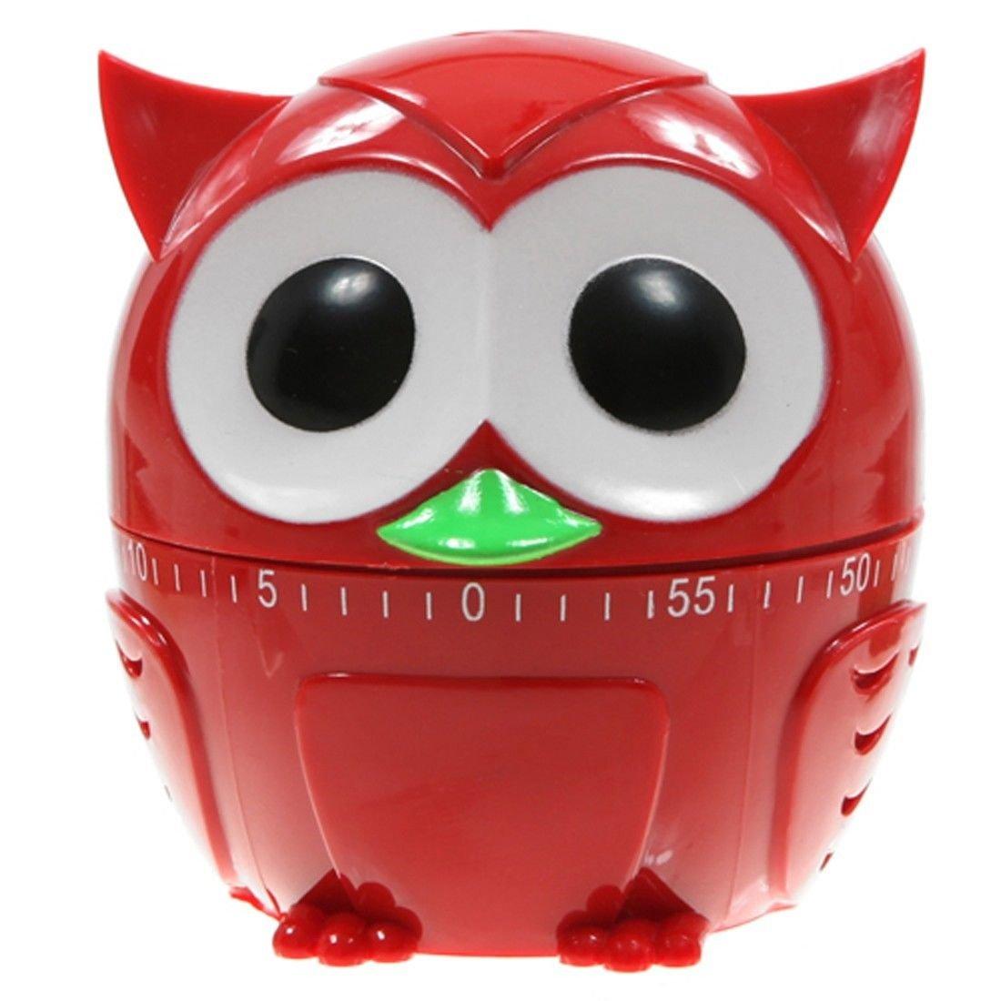 Amazon.com: Kikkerland Owlet Kitchen Timer, 60 Minutes, Assorted Colors, 1  Piece: Owl Cookie Jar: Kitchen U0026 Dining