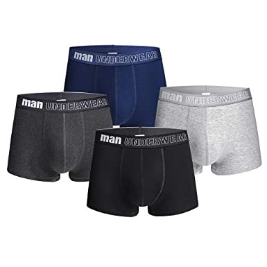0e03b6e1bf Acexy Herren Boxershorts, 4er Pack Unterwäsche/Boxershorts Basic Trunk  Unterhosen Männer (4 Pack