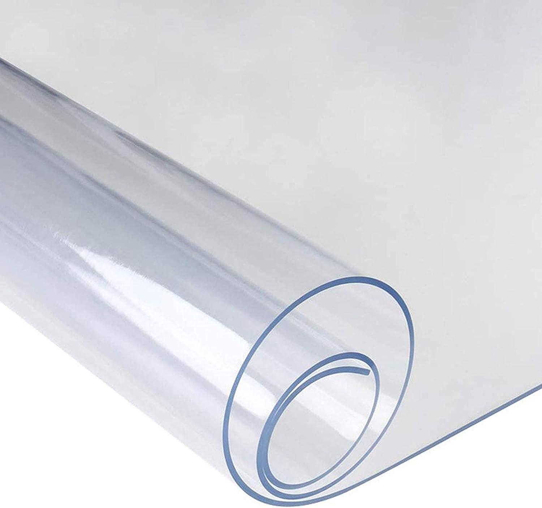 FXDCQC Transparente Protector De Suelo De PVC, ProteccióN De Suelo De PVC, Resistente Al Desgaste, para Sillas De Escritorio, para Alfombras De Pelo Low-Medium Suelos, 0.5mm(160x160cm/62.99x62.99in)