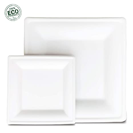 Amazon.com: Bhona Supplies – Platos de papel cuadrados ...