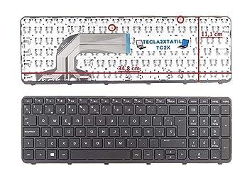 Teclado Compatible DE Y para PORTATIL HP 350 G2 (L8B05ES) ESPAÑOL Negro con Marco Ojo Ver Foto Ver Medidas: Amazon.es: Electrónica