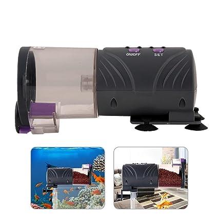 Pawaca Alimentador automático para Peces/Tortugas para Acuario, temporizado, automático, dispensador de