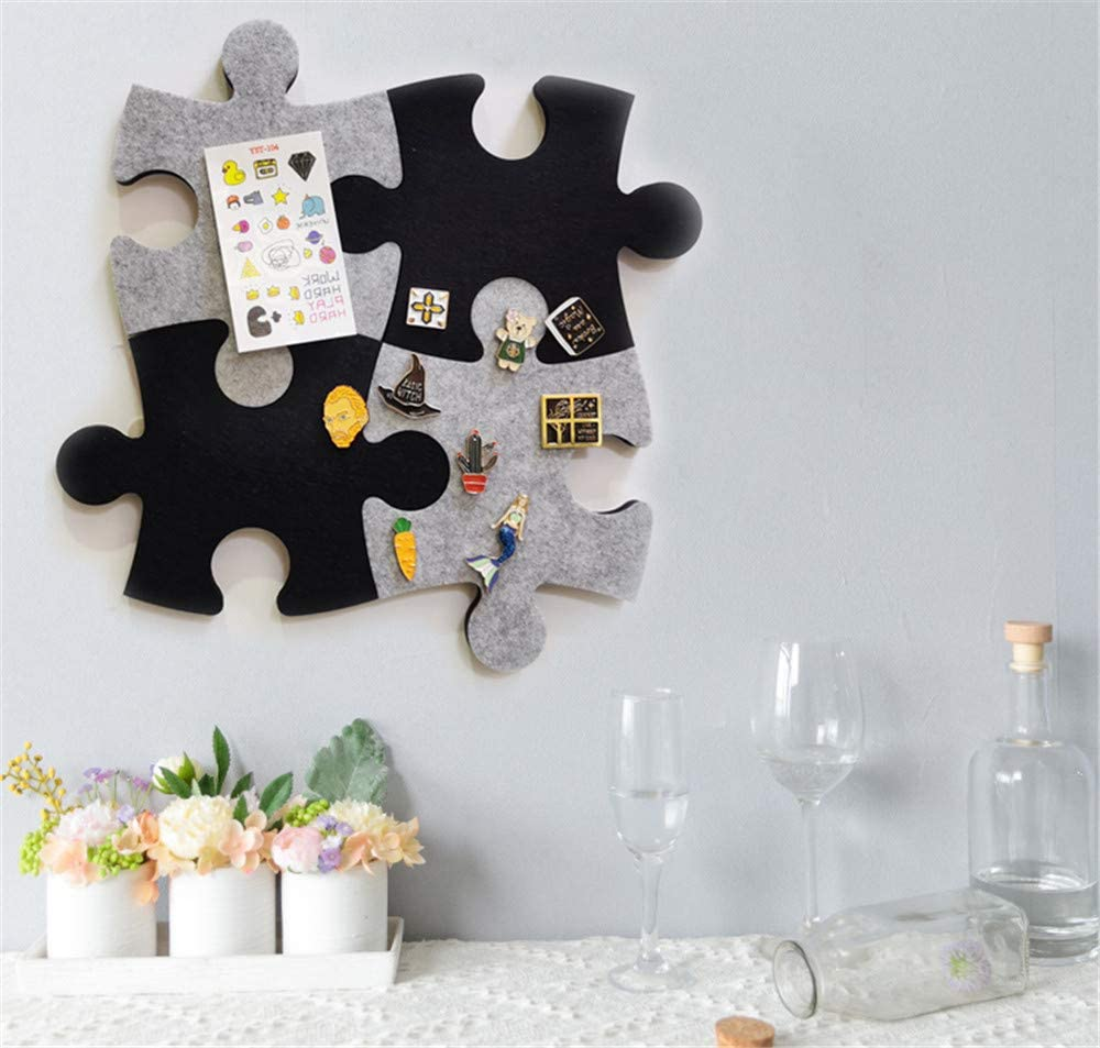 Felt Bulletin Board Cork Board Tiles Set of Wall Puzzle Shape Pin Board w//Self Adhesive to Keep Memories Photos Memos Display Board Pads Pictures Drawing Goals Notes Colorful Foam Wall Decorative