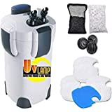 SunSun Hw303B 370GPH Pro Canister Filter Kit with 9-watt UV Sterilizer
