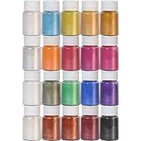 Dewel Mica en Polvo,20 Botellas×10 gramo Pigmento Resina