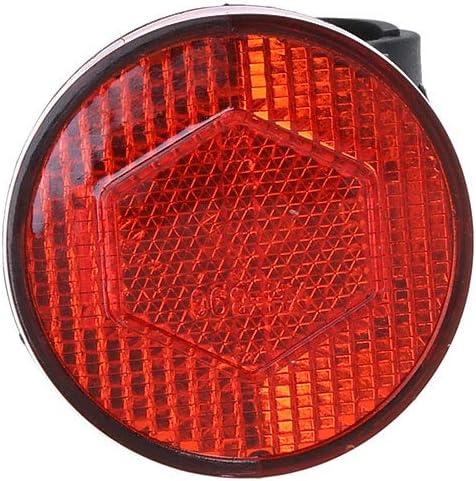 NA R/éflecteur de guidon de v/élo en plastique r/éfl/échissant pour avertissement de s/écurit/é nocturne pour v/élo pliable Fourche arri/ère 22,2 mm