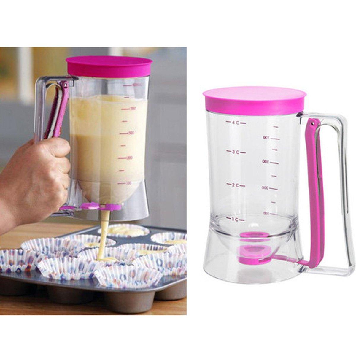 Batter Dispenser Cake Pancake Cupcake Measuring Cup Cake Mix Release Jug Tool Denny International®