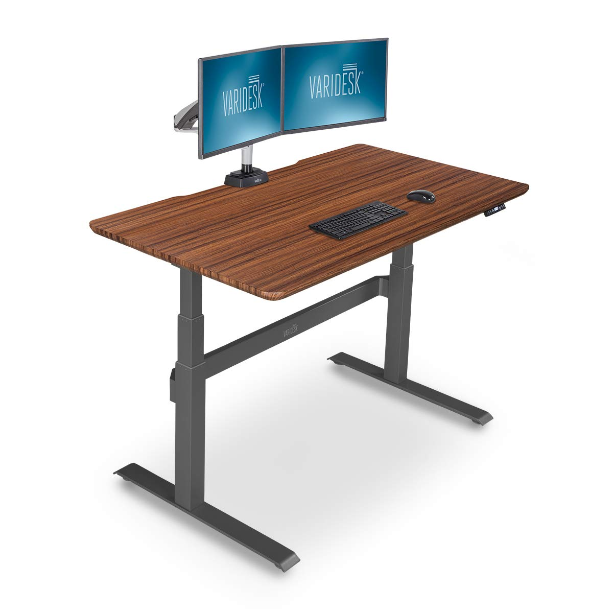 VARIDESK - Full Electric Desk - PRODESK 60 Electric Darkwood- 3-Button Memory Settings by VARIDESK