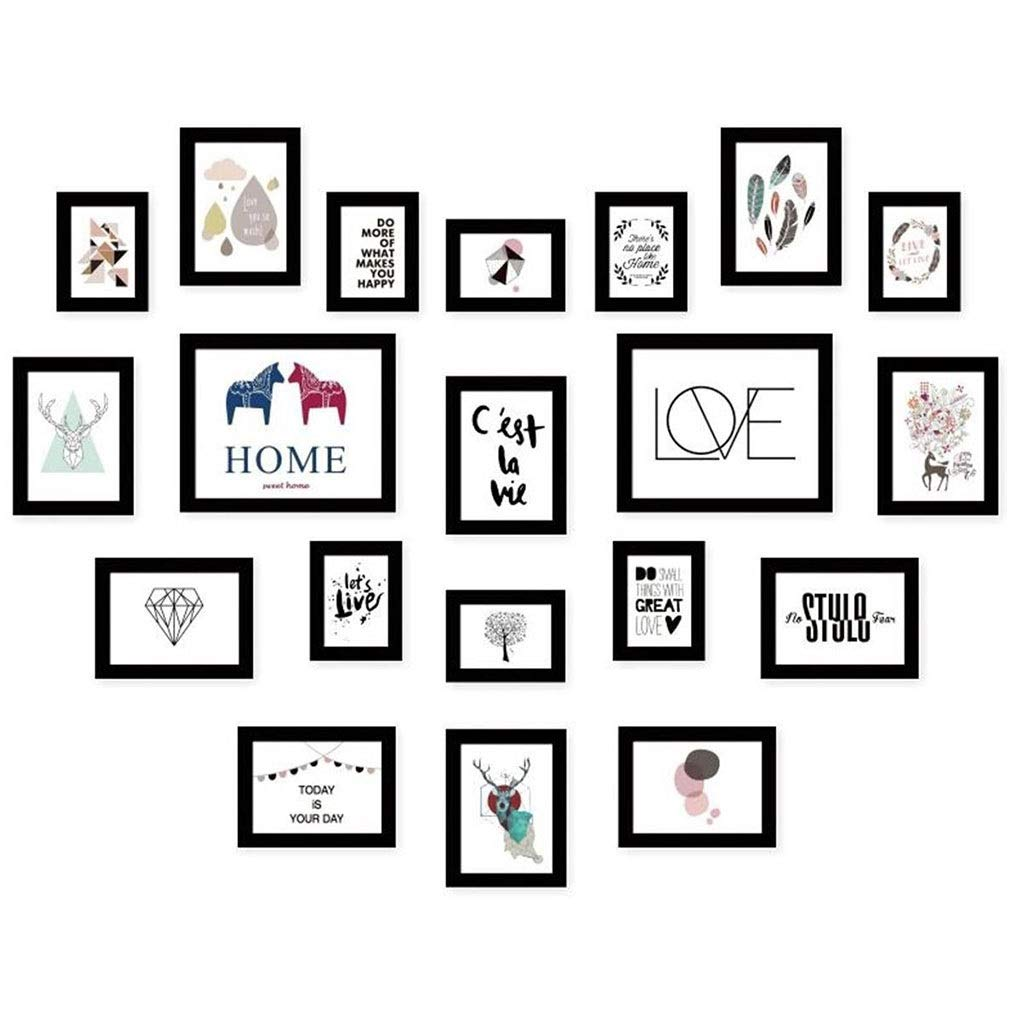WANGJUNXIU Photo Wall Photo Frame Combination Love Photo Wall Wedding Photo Studio Photo Frame Wall Living Room Bedroom, 130100CM by WANGJUNXIU