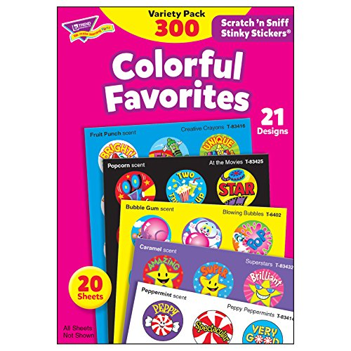 Stinky Sticker Colorful Favorites Variety Pack of 300 ()