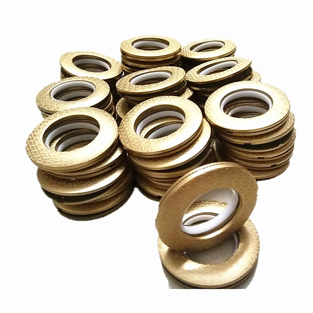 CENGOOD Curtain Grommets 1-9/16 Inch Inner Diameter Matte Style Gold Pack of 48 by CENGOOD
