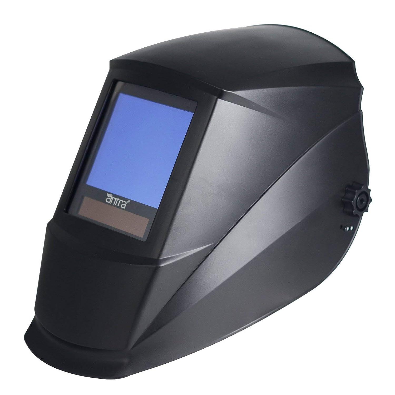 Nuzamas Solar Powered Auto Darkening Welding Helmet Mask Weld Face Protection for Arc Tig Mig Grinding Plasma Cutting with Adjustable Shade Range DIN4//9-13 UV//IV protection DIN16