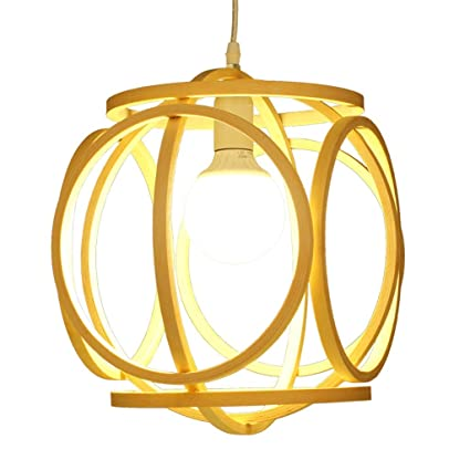 Amazon Com Pendant Lights Bamboo Chandelier Diy Wicker Rattan Lamp
