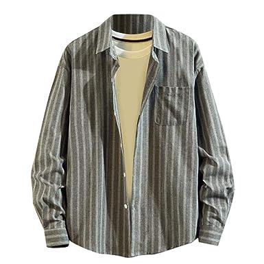 e4b8ccf28f Shirts for Men Printed,Top di Camicia A Maniche Lunghe Sciolto ...