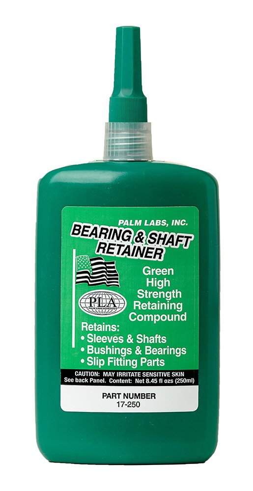 Bearing & Shaft Retaining Compound - High Strength Slip Fit - Series 17 - Equivalent to Loctite 680. 250ml Bottles - Case of 2