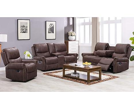Amazon.com: Sofá reclinable para salón, sofá reclinable ...