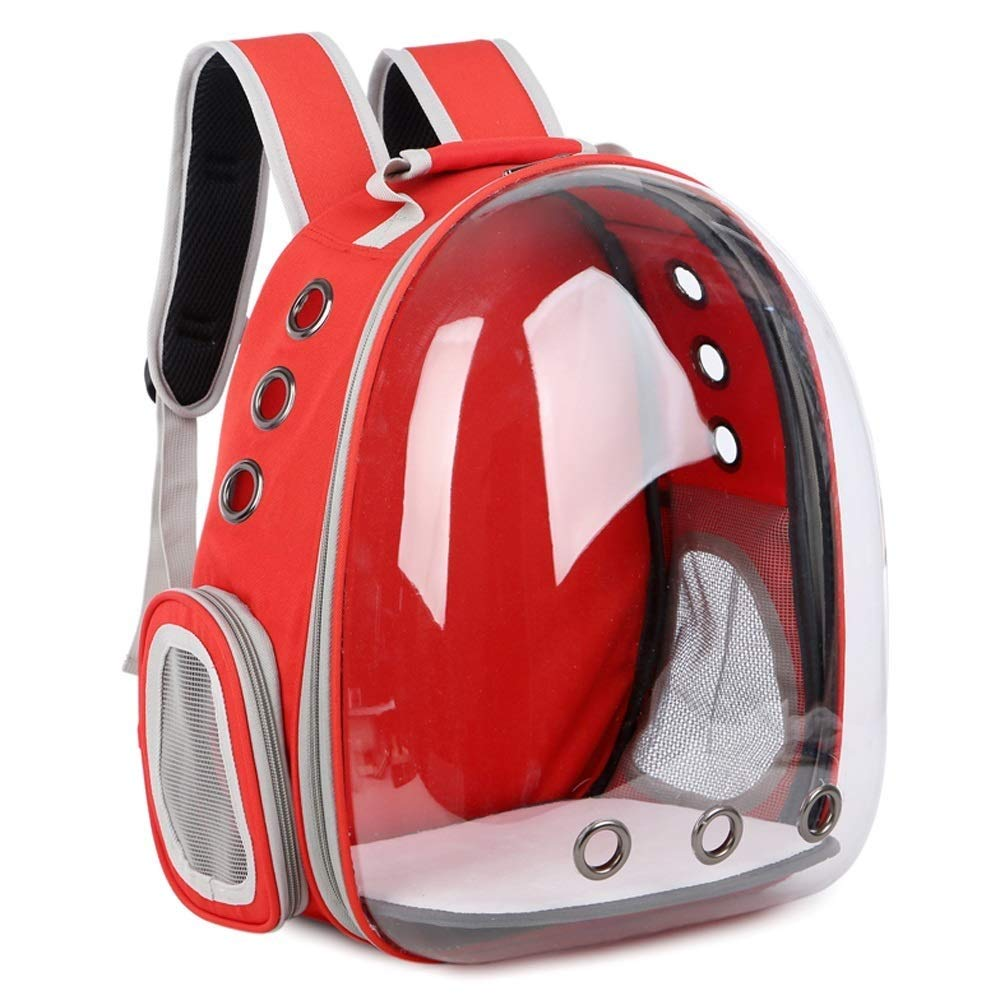 E Cute Pet Double Shoulder Cat Dog Backpack Sports Outdoor Pet Backpack Transparent Capsule Venting Hole Design Backpack Pet Traveler Multi-color Optional 13 Inches11 Inches16.5 Inches