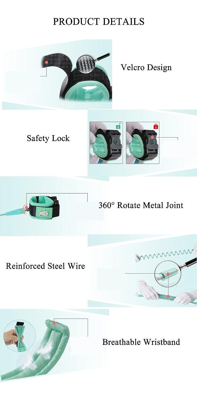 Laisse anti-perdue de lien de poignet denfants avec la serrure harnais de sangle de s/écurit/é denfants de 1.5M // 2M // 2.5M // 3M anneau r/églable de harnais rotation de 360 de ceinture de laisse de marche denfant en bas /âge