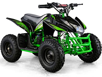 Outdoor Kids Children Titan V Black Mini Quad Atv Dirt Motor Bike Electric Battery Powered