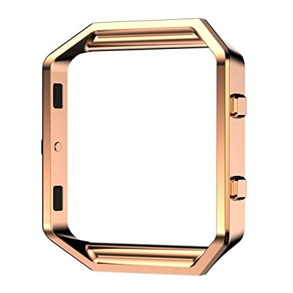 fitbit blaze accessories case housing frame rose goldkartice stainless steel watch replacement metal housing