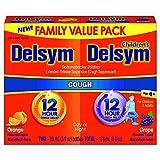 #7: Delsym Children's 12 Hr Cough Relief, Cough Liquid, Orange and Grape Duo Pack, 3 Ounces Each