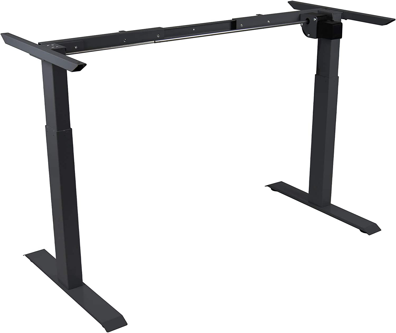 bis 80 kg I Silbernes Tischgestell mit anthraziter Platte HORI/® Schreibtisch PC Computertisch oder als Arbeitstisch mit elektrisch h/öhenverstellbarem Tischgestell I Ma/ße 120 x 68 cm