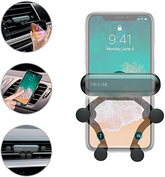 360°Rotating Gravity Car Mount Air Vent Stand Holder For Cell Phone Universal OU