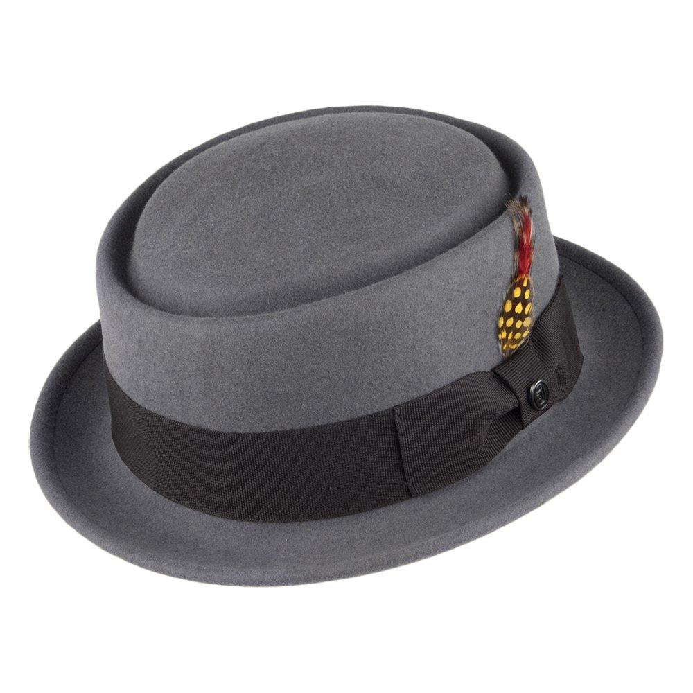 Jaxon & James Crushable Wool Pork Pie Hat - Grey