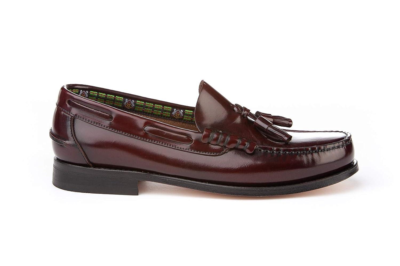 Mocasines con borlas para Hombre. Zapatos Castellanos Fabricados con Piel bovina. Disponibles Desde la Talla 40 hasta la Talla 45 - A&L Shoes Modelo 476.