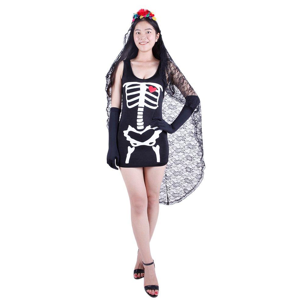 misscat para mujer de novia cadáver disfraz de Halloween Scary ...