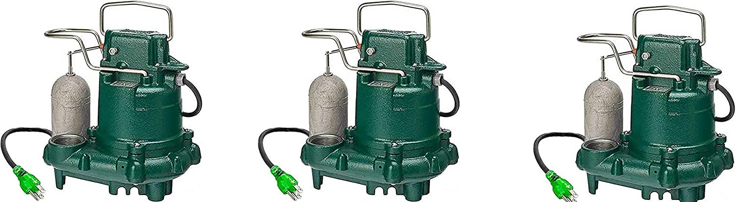Zoeller M63 Premium Series 5 Year Warranty Mighty-Mate Submersible Sump Pump, 1/3 Hp (Pack of 3)