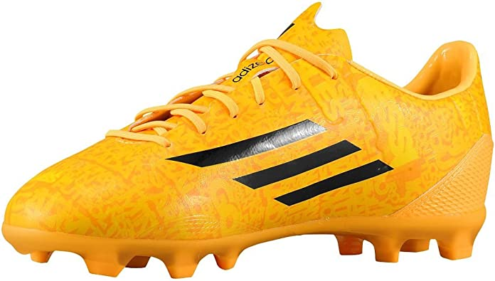 Amazon Com Adidas F50 Adizero Junior Lionel Messi Soccer Cleat Solar Gold Sz Soccer