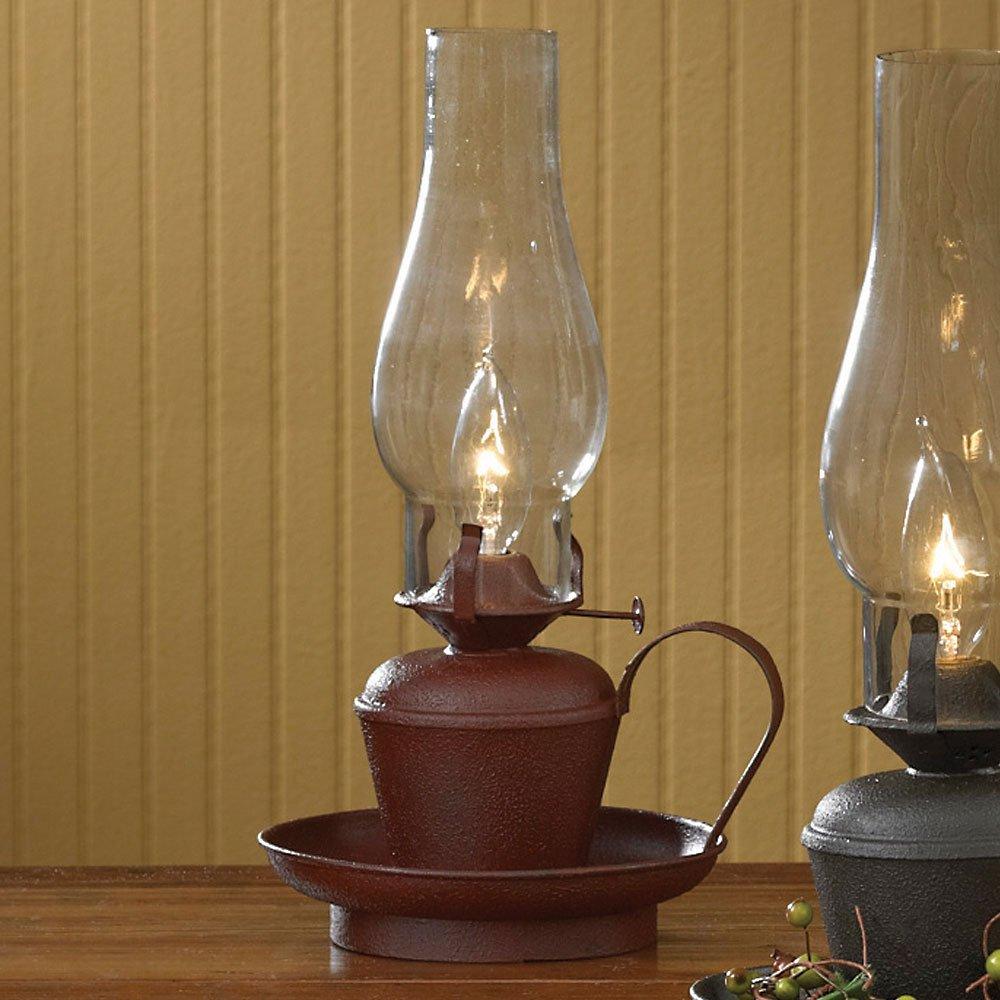 Park Designs Red Oil Lamp 14''