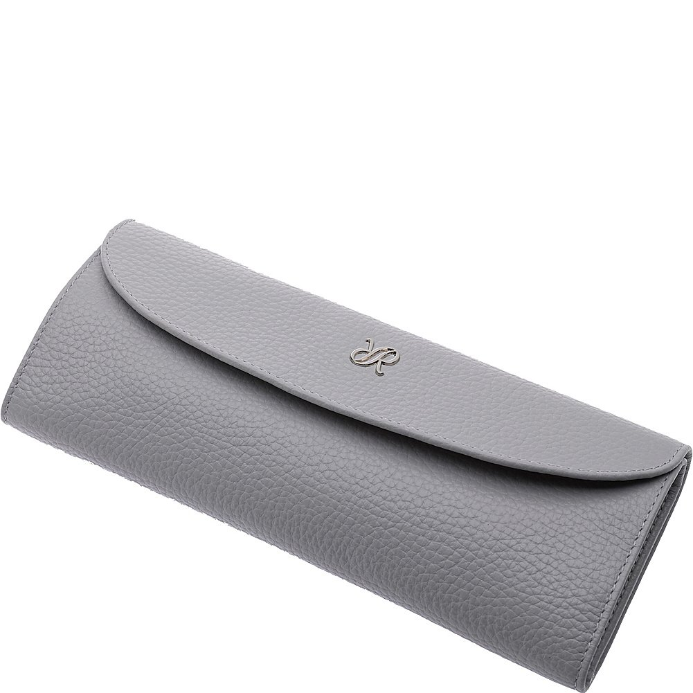 Rapport London Mayfair Leather Jewelry Roll (White)