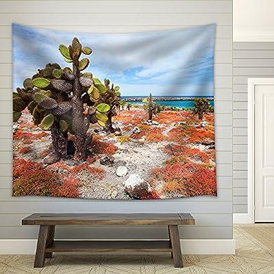 Elegant Expert Craftsmanship, Quality Creation, Beautiful Landscape of Galapagos South Plaza Island Fabric Wall