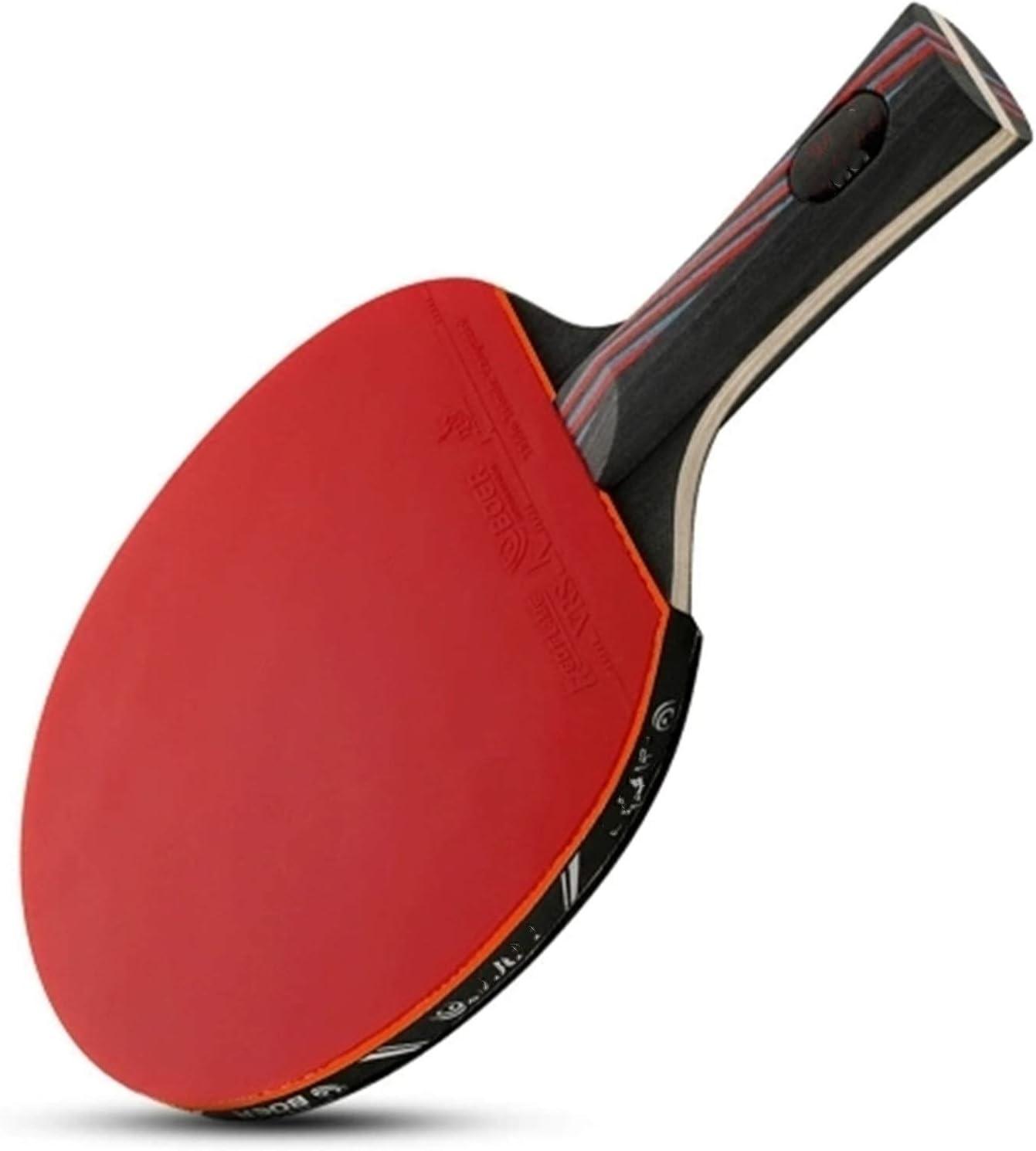 Paleta de Ping Pong 1 unids de Nivel de Rendimiento Tabla de Tenis Raqueta aprobada por Paloma de Goma Pong Tenis de Mesa Premium (Color : Red, Size : Long Handle)
