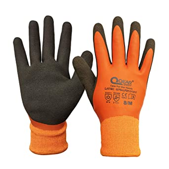 7 ,water proof and rose-thorn resistance glove QEAR GARDEN GLOVE LATEX FULLY COATED