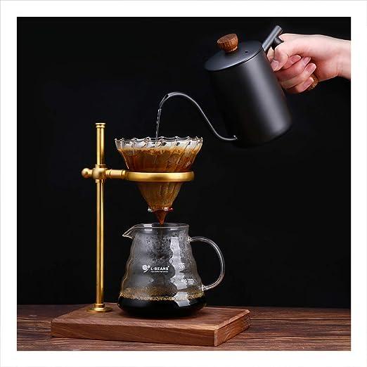 Soporte de gotero de café de latón,Cafetera de vidrio,Juego de ...