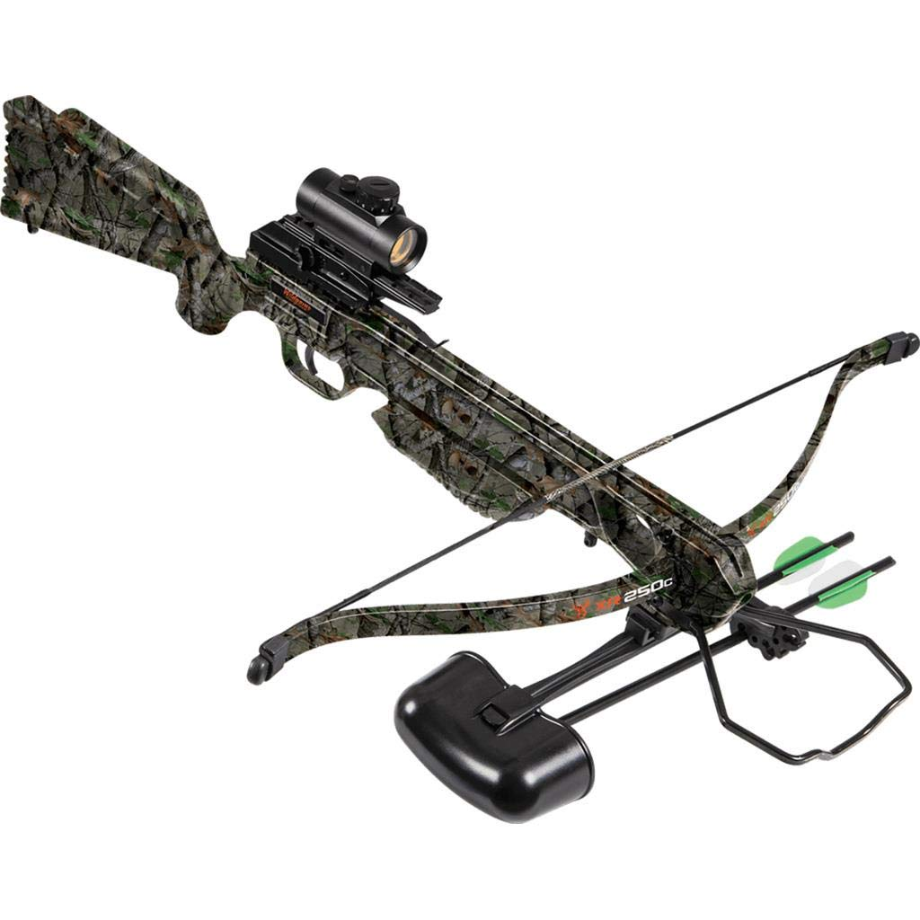 Wildgame Innovations XR250C Crossbow – Shoots 250 Feet Per Second Quiver, 2-18 Arrows, RCD Red Dot Scope, Elude Camo