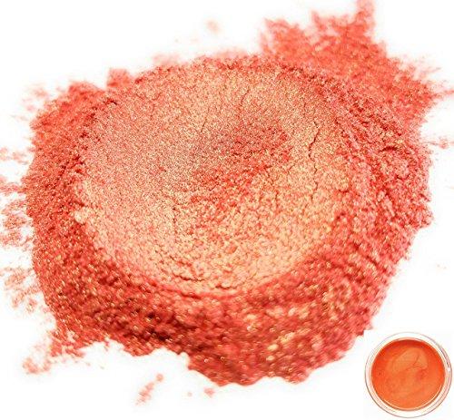 50gr ''Rikugien Orange'' Mica Powder Pigments (Resin, Paint, Epoxy, Soaps, Nail Polish, Liquid Wraps) by Eye Candy Pearls