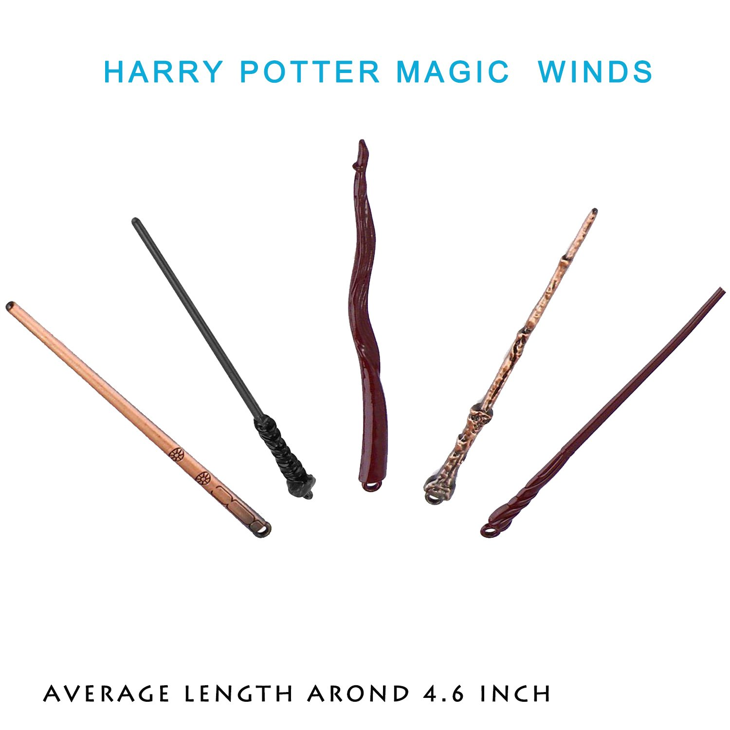 13 Styles Creative Cosplay Harry Potter Series Magic Wands New with Metal Core Magical Wands with Keychain Necklace for Kids by Harmoos (Image #5)