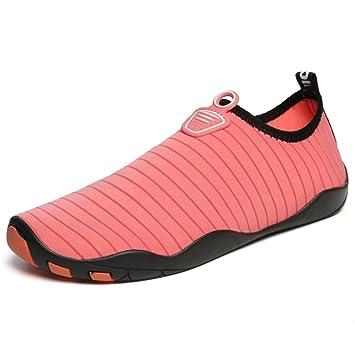 XIE Hombres Mujeres Zapatos de Agua Descalzo Quick Dry Aqua Calcetines de Piel Agujeros de Drenaje