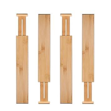 Amazon.com: Utoplike - Organizador de cajones de bambú para ...