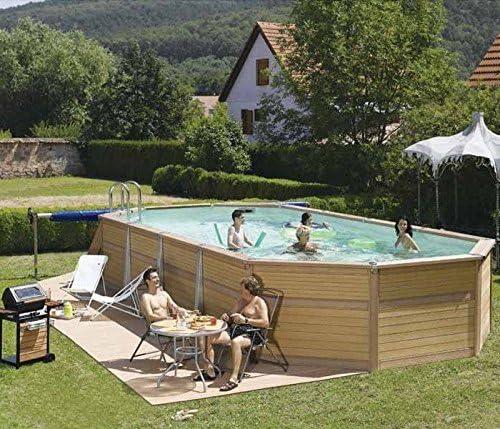 Zodiac Azteck maxiwood ovalada de madera piscina 4 m x 10,5 M ...