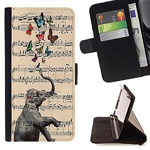 Jordan Colourful Shop -Elephant Cute Aztec -- Leather Case Absorciš®n cubierta de la caja de alto impacto FOR Sony Xperia Z2 L50t L50W L50U ---