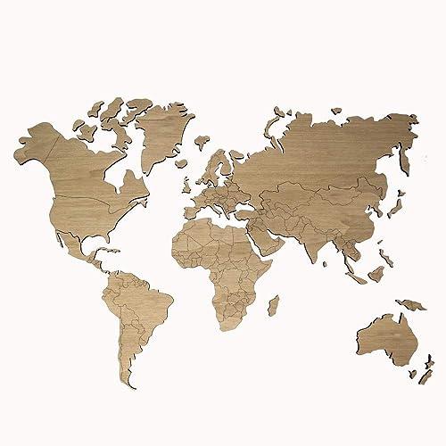 MapaMundi Decorativo de madera personalizable color y tamaño ...