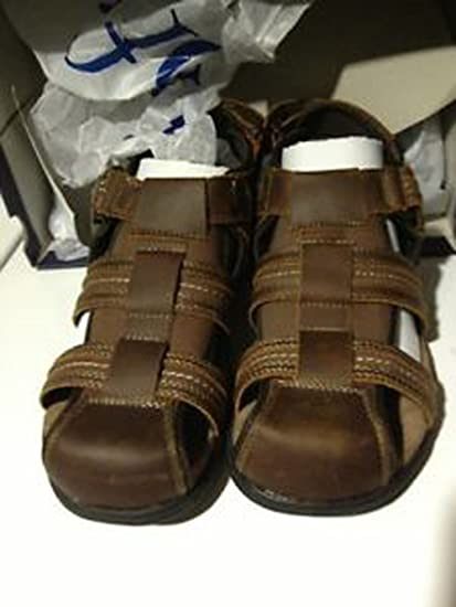 3a925ae156e8 Amazon.com   Croft   Barrow Men s Cobra Brown Leather Sport Sandals Size 12  M Fisherman   Sports   Outdoors