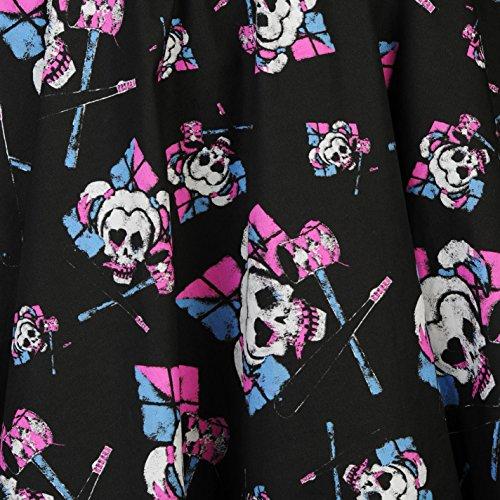 Harley Scollo Cuore A Donna Character Spalline Ampie Senza Skater Vestito Maniche Quinn Abito xX4qUwtPU