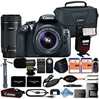 Canon EOS Rebel T6 18MP Digital SLR Camera Retail Packaging 16 Piece Videographer Bundle (18-55mm & 55-250mm Premium Bundle)